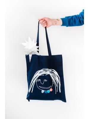 """Medvilninis maišelis - speciali """"Šiaurės licėjaus"""" projekto prekė"""