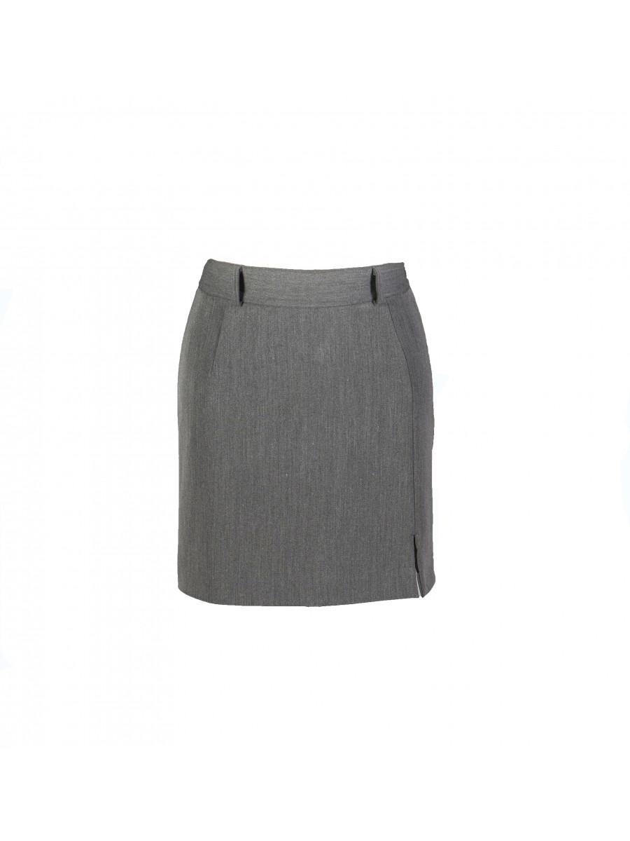 Pilkas mini sijonas