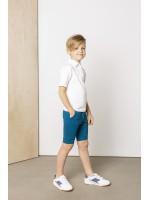 Balti polo marškinėliai trumpomis rankovėmis 1
