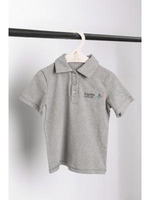 Pilki polo marškinėliai trumpomis rankovėmis
