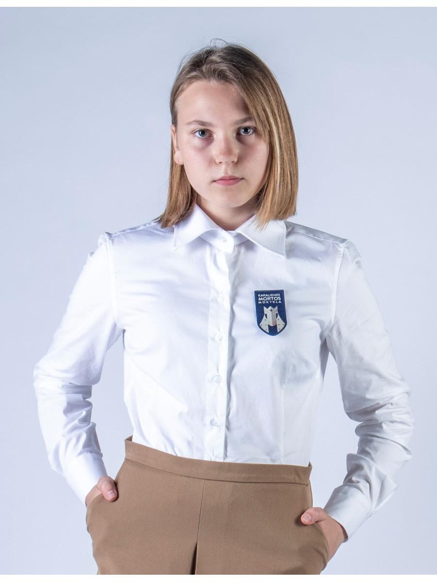 Marškiniai merginoms ilgomis rankovėmis. Privaloma uniformos dalis.