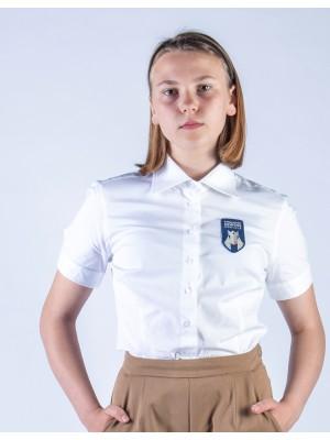 Marškiniai merginoms trumpomis rankovėmis. Privaloma uniformos dalis.