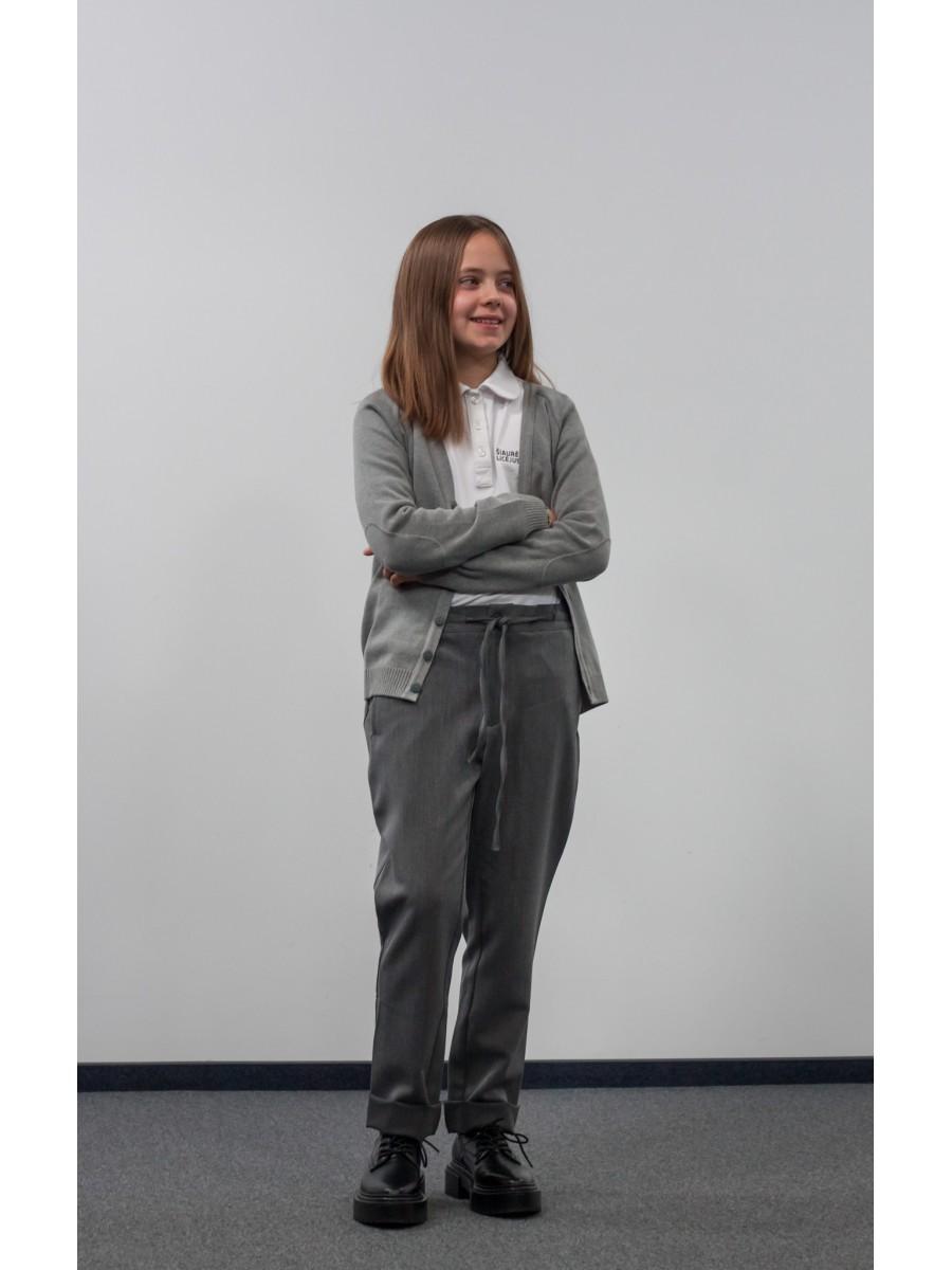 Pilkos kelnės su raišteliais V-VIII klasei NAUJA
