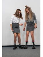 Pilkas mini sijonas  1