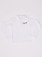 Balti polo marškinėliai mergaitei